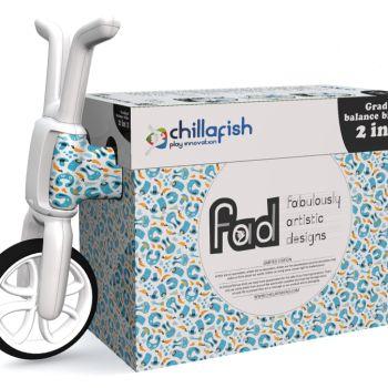 Беговел-каталка Chillafish Bunzi (авторский дизайн, резиновые колеса) жирафики