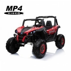 Электромобиль Buggy XMX603 Spider MP4 красный (сенсорный дисплей, 2х местный, полный привод, резина, кожа, пульт, музыка)