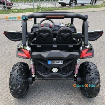 Электромобиль Buggy XMX603 камуфляж (2х местный, полный привод, колеса резина, кресло кожа, пульт, музыка)