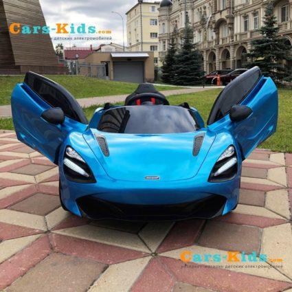 Электромобиль Mclaren DKM720S (колеса резина, кресло кожа, пульт, музыка)